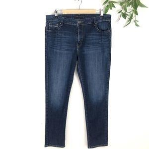 Levis Original Dark Wash Mid Rise Skinny Jeans